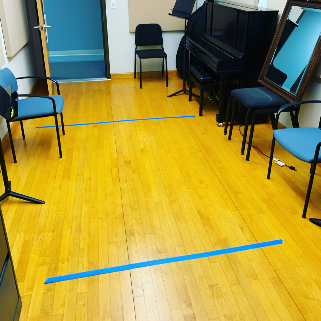 Distanced Studio Teaching